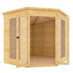 7ft x 7ft Pressure Treated Corner Tongue and Groove Summerhouse
