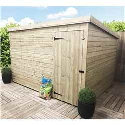 INSTALLED 10FT x 4FT Windowless Pressure Treated Tongue & Groove Pent Shed + Single Door INCLUDES INSTALLATION
