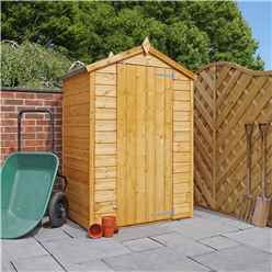 3ft x 4ft Tongue and Groove Windowless Wooden Apex Shed With Single Door (10mm Solid OSB Floor)