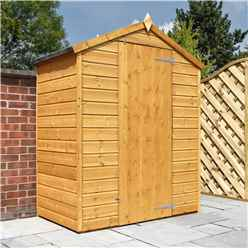 3ft x 5ft (0.85m x 1.59m) Wooden Windowless Tongue and Groove Apex Shed With Single Door (10mm Solid OSB Floor)