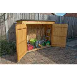 Dip Treated Overlap Large Outdoor Store With Tongue and Groove Front Panel and Doors (145 x 193 x 85cm)