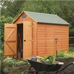 INSTALLED 8ft x 6ft Deluxe Rowlinson Security Tongue & Groove Shed (12mm T&G Floor) INCLUDES INSTALLATION