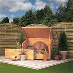 "INSTALLED Deluxe Rowlinson Tongue & Groove Garden Chest 4'6"" x 2'11"" (1380mm x 900mm) INCLUDES INSTALLATION"