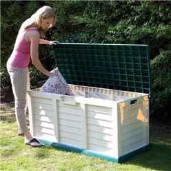 "INSTALLED 4'7"" x 2'0"" Rowlinson Plastic Garden Store/Bench (1400mm x 610mm) INCLUDES INSTALLATION"