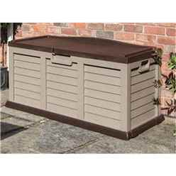 INSTALLED Deluxe Mocha Plastic Storage Box/Bench INSTALLATION INCLUDED