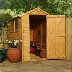 6ft x 4ft Select Tongue And Groove Apex Shed With 2 Windows And Single Door (12mm Tongue and Groove Floor) (10mm Solid OSB Roof) - 48hr + Sat Delivery*
