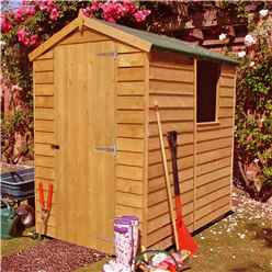 INSTALLED - 6ft x 4ft (1.83m x 1.20m) - Dip Treated Overlap -  Apex Garden Shed - 1 Window -  Single Door - 10mm Solid OSB Floor