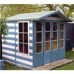 INSTALLED - 7ft x 7ft (2.05m x 1.98m) - Coleman Summerhouse - 12mm T&G Floor
