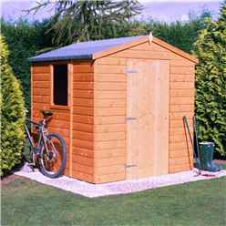 INSTALLED - Stowe - 7ft x 5ft (2.05m x 1.62m) - Tongue & Groove - Apex Garden Shed - 1 Opening Window - 12mm Tongue and Groove Floor