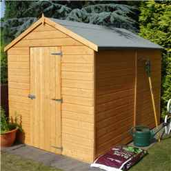 INSTALLED - 8ft x 6ft (2.38m x 1.79m) - Tongue & Groove - Apex Garden Shed - 1 Window - Single Door - 10mm OSB Floor