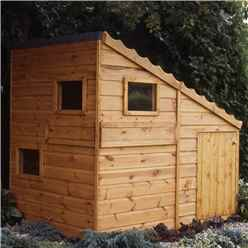 INSTALLED - 6ft x 4ft (1.79m x 1.19m) - Stowe Command Post Playhouse