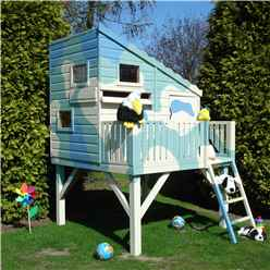 INSTALLED - 6ft x 6ft (1.79m x 1.79m) - Stowe Command Post Tower Playhouse