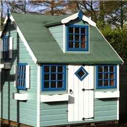 INSTALLED - 6ft x 8ft (2.39m x 1.79m) - Cottage Playhouse - 12mm Tongue and Groove