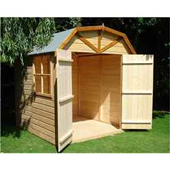 INSTALLED - 7ft x 7ft (2.05m x 1.97m) - Stowe Tongue & Groove - Apex Garden Shed /Barn - 1 Window - 12mm Tongue and Groove Floor