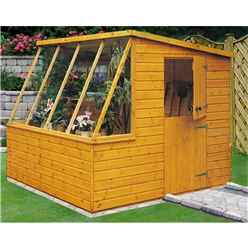 8ft x 8ft  (2.39m x 2.39m) - Tongue And Groove - Potting Shed - Opening Side Door