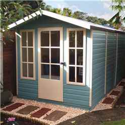 10ft x 7ft (2.97m x 2.05m) - Premier Wooden Summerhouse - Single Doors - 12mm T&G Walls - Floor - Roof