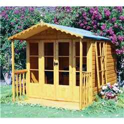 10 x 7 (2.97m x 2.05m) - Premier Wooden Summerhouse + Veranda - 12mm T&G Walls - Floor - Roof