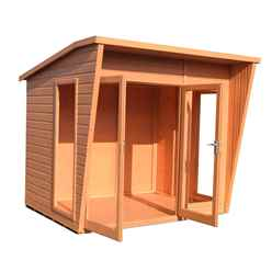 8ft x 6ft (2.99m x 1.79m) - Premier Wooden Summerhouse - 12mm T&G Walls & Floor