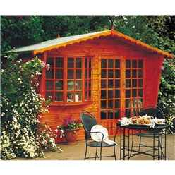 10ft x 6ft (3m x 1.79m) -  Wooden Apex - Summerhouse - 12mm Tongue And Groove Floor & Roof