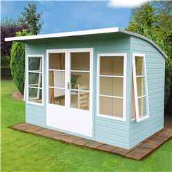10ft x 6ft (2.99m x 1.79m) - Tongue And Groove - Pent Wooden Summerhouse - 4 Windows - Double Doors -  12mm Tongue And Groove Floor