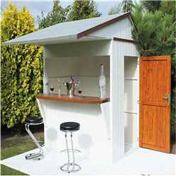 INSTALLED 6ft x 4ft (1.79m x 1.19m) - Garden Bar And Store - 12mm Tongue And Groove Floor and Roof