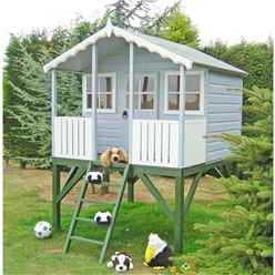 6 x 4 Wooden Stork Playhouse With Platform