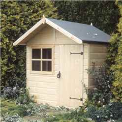 INSTALLED 5ft x 4ft (1.48m x 1.42m) - Wooden Club Playhouse