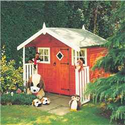 INSTALLED 6ft x 4ft (1.72m x 1.19m) -  Wooden Hobby Playhouse
