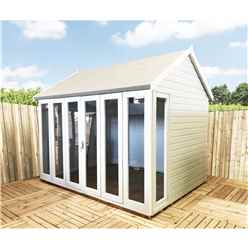 10ft x 8ft (2.99m x 1.79m) - Premier Wooden Summerhouse - Bifold Doors - 12mm T&G Walls - Floor - Roof