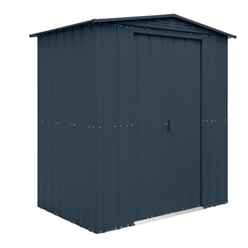 6ft x 5ft Anthracite Grey Apex Metal Shed (1.71m x 1.44m)