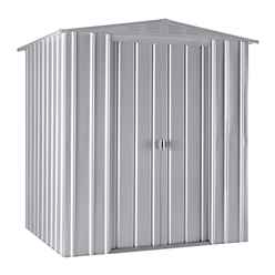 6ft x 5ft Aluminium White Apex Metal Shed (1.71m x 1.44m)
