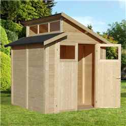 7ft x 7ft Skylight Shed - Double Doors - 19mm T + G Walls, Floor + Roof