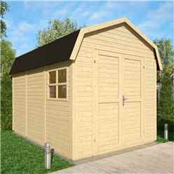 11ft x 8ft Dutch Barn - Double Doors - 19mm Tongue and Groove Walls and Floor - 1 Window