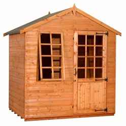 5ft x 7ft Georgian Style Summerhouse (12mm Tongue and Groove Floor and Apex Roof)