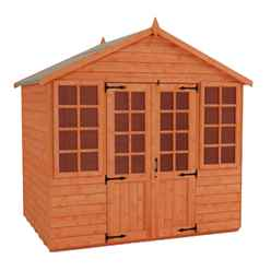 8ft x 8ft Classic Summerhouse (12mm Tongue and Groove Floor and Apex Roof)