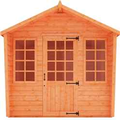8ft x 10ft Chalet Summerhouse (12mm Tongue and Groove Floor and Apex Roof)