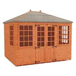 8ft x 8ft Pavilion Summerhouse (12mm Tongue and Groove Floor and Roof)