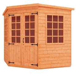 8ft x 8ft Corner Summerhouse (12mm Tongue and Groove Floor and Pent Roof)