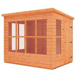8ft x 6ft Pent Summerhouse (12mm Tongue and Groove Floor and Roof)