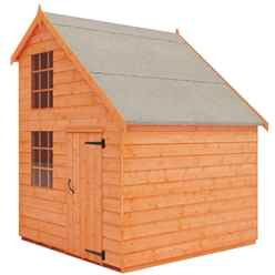6ft x 8ft Mansion Playhouse (12mm Tongue and Groove Floor and Roof)