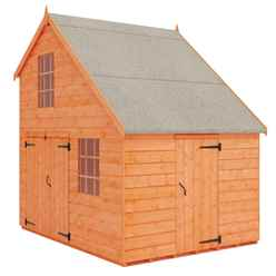 6ft x 8ft Garage Playhouse (12mm Tongue and Groove Floor and Roof)