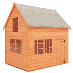 6ft x 8ft Cottage Playhouse (12mm Tongue and Groove Floor and Roof)