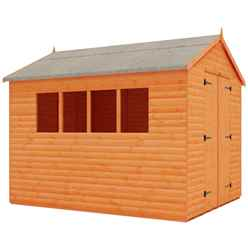14ft x 8ft Log Lap Work Shop (12mm Tongue and Groove Floor and Apex Roof)