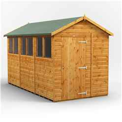 12ft x 6ft Premium Tongue and Groove Apex Shed - Single Door - 6 Windows - 12mm Tongue and Groove Floor and Roof