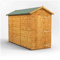 10ft x 4ft Premium Tongue and Groove Apex Shed - Single Door - Windowless - 12mm Tongue and Groove Floor and Roof