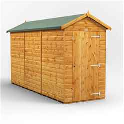 12ft x 4ft Premium Tongue and Groove Apex Shed - Single Door - Windowless - 12mm Tongue and Groove Floor and Roof