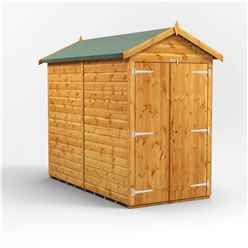 8ft x 4ft Premium Tongue and Groove Apex Shed - Double Doors - Windowless - 12mm Tongue and Groove Floor and Roof