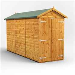 12ft x 4ft Premium Tongue and Groove Apex Shed - Double Doors - Windowless - 12mm Tongue and Groove Floor and Roof