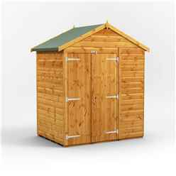 4ft x 6ft  Premium Tongue and Groove Apex Shed - Double Doors - Windowless - 12mm Tongue and Groove Floor and Roof