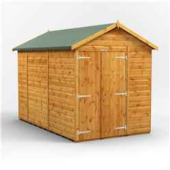 10ft x 6ft Premium Tongue and Groove Apex Shed - Double Doors - Windowless - 12mm Tongue and Groove Floor and Roof
